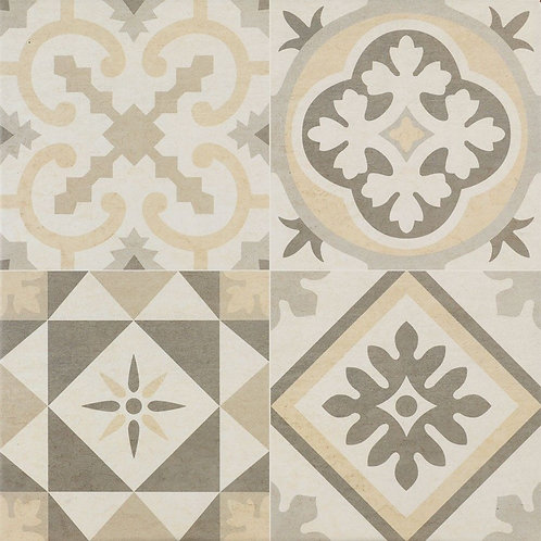 CREAM PATTERN FLOOR TILE