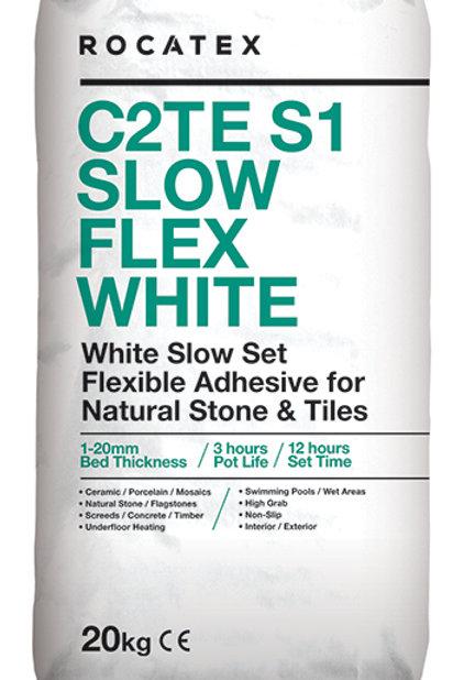 C2TE S1 Slow Flex White Adhesive 50 Bags