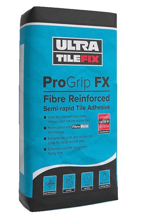 UltraTileFix ProGrip FX is a single part, semi-rapid setting flexible adhesive f