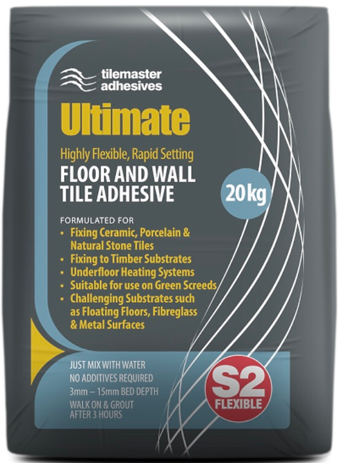 Ultimate Highly Flexible S2 Rapid Setting Floor & Wall Adhesive