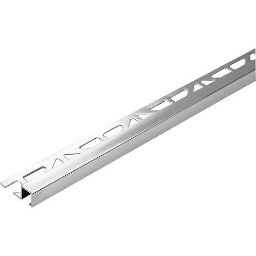 High gloss silver squareline trim 2.5meter length