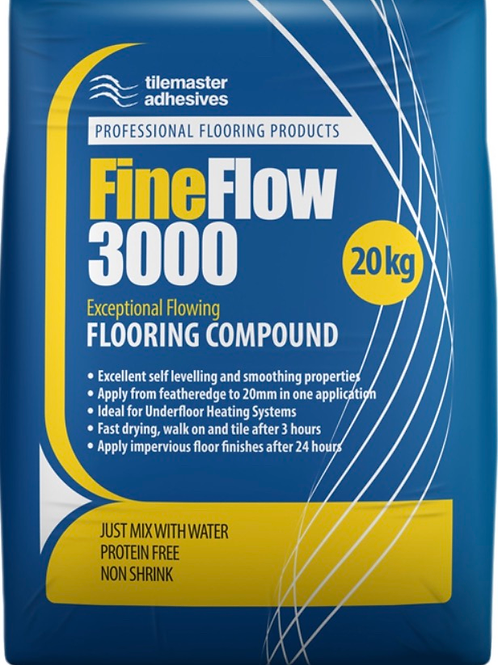 Tilemaster Fine Flow 3000 Free Flowing Heavy Duty Self Levelling Compound 20kg
