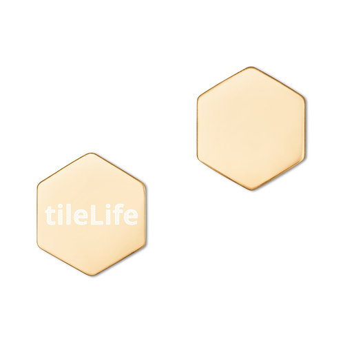 tileLife Sterling Silver Hexagon Stud Earrings