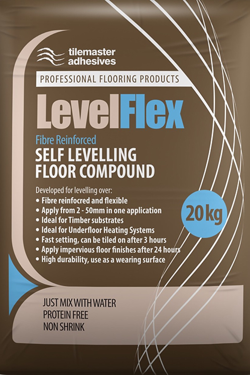 Tilemaster LevelFlex Fast Set Flexible Fibre Reinforced Self Levelling Compound
