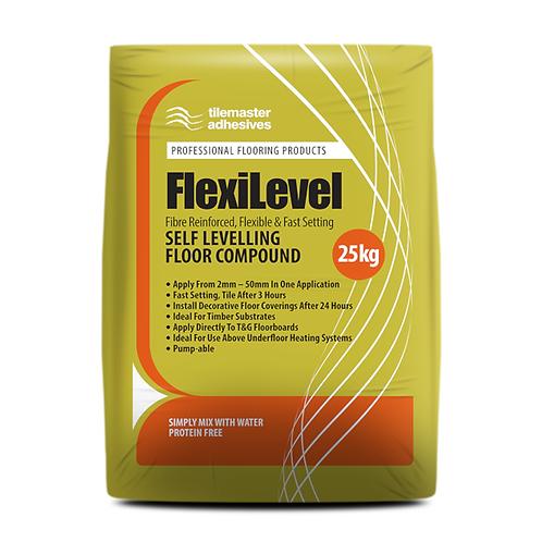 Tilemaster FlexiLevel Fibre Reinforced Flexible Self Levelling Compound 25kg Ful