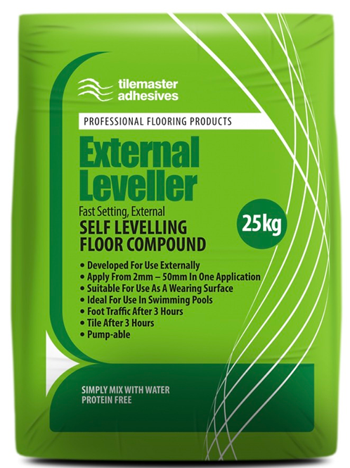 Tilemaster External Leveller Fast Set Self Levelling Compound 25kg