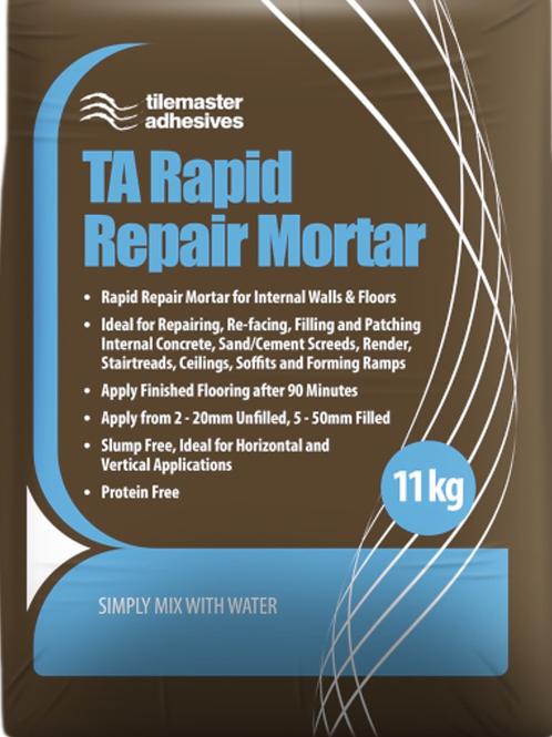 Tilemaster TA Rapid Repair Mortar Grey 11kg Full Pallet (80 Bags Tail Lift)