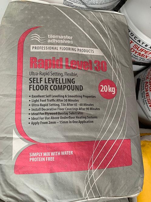 Tilemaster Rapid Level 30 Flexible Self Levelling Compound 20kg Full Pallet (48