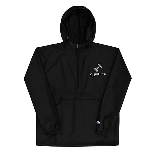 gymLife Embroidered Champion Packable Jacket