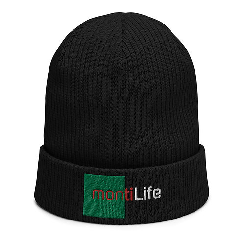 montiLife Organic ribbed beanie