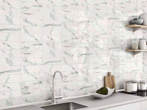 Calacatta flat gloss tiles 30x10