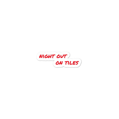 Night Out On Tiles Bubble-free stickers