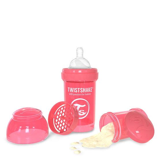 Mamadeira Twistshake Anti-Cólica (180ml / Bico 0+m) - Edição Cores Neon