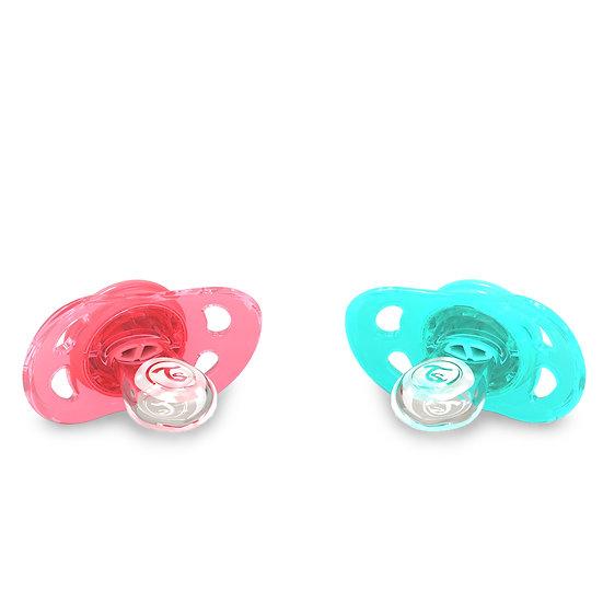Chupeta Twistshake Mini (Kit 2x / 0-6M) - Edição Cores Neon