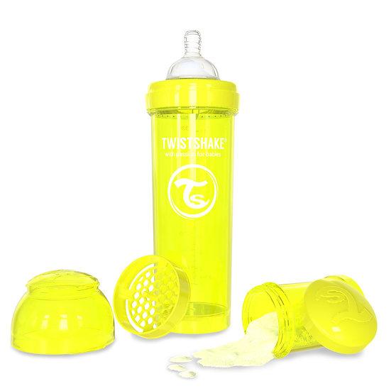 Mamadeira Twistshake Anti-Cólica (330ml / Bico 4+m) - Edição Cores Neon