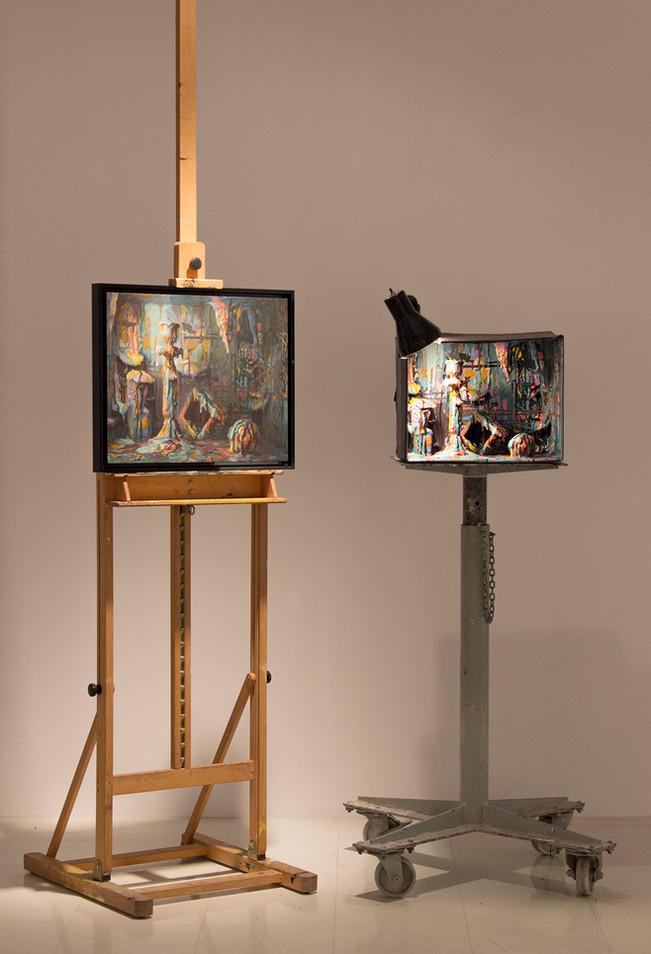 Peinture morte (installation)