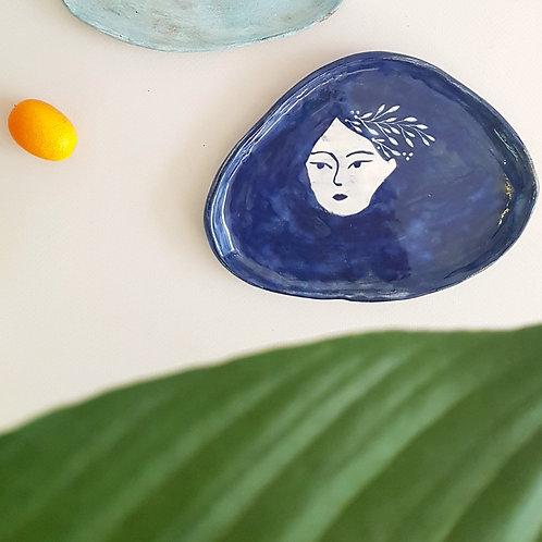 Plato melena azul