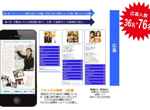 求人媒体と携帯サイトの組み合わせで応募率大幅UP!