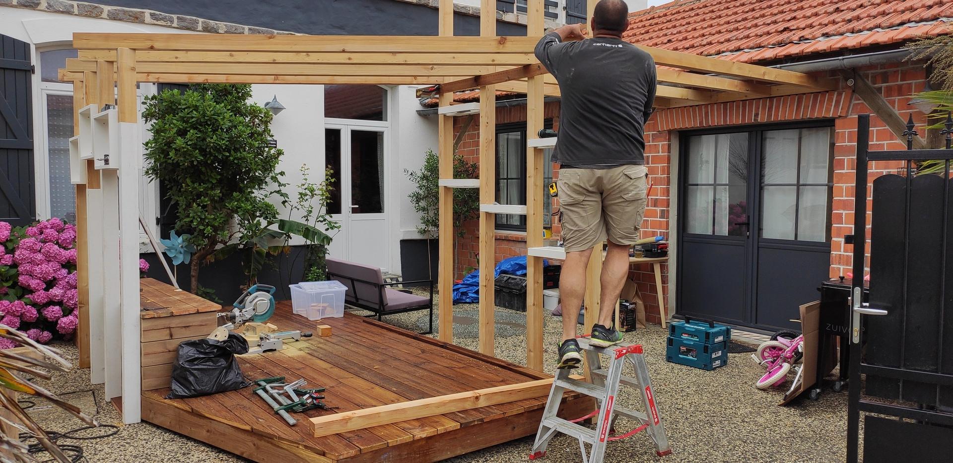 conception d'une terrasse à la guérinière