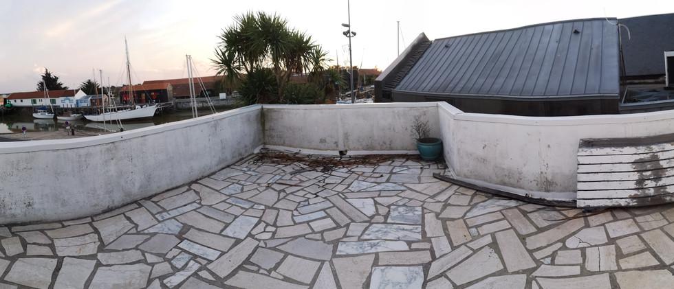 aménagement d'une terrasse sur le port denoirmoutier