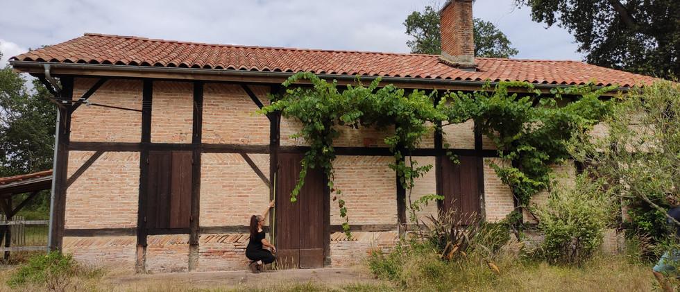 Réaménagement d'une maison de caractère dans la campagne des Landes