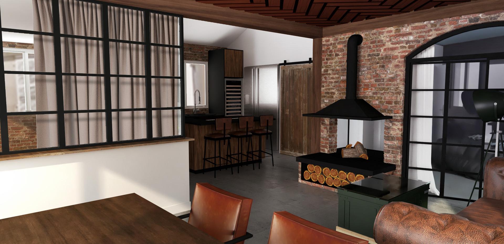 proposition de réaménagement d'un appartement sur le port de noirmoutier