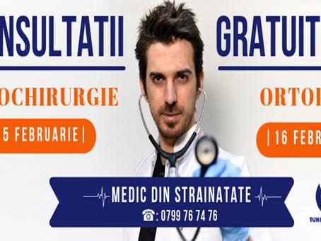CONSULTATII GRATUITE: NEUROCHIRURGIE & ORTOPEDIE
