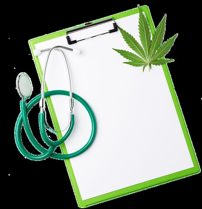 medical-stethoscope-green-hemp-leaf-gree