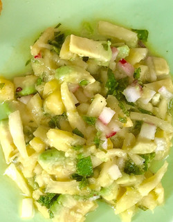 Pineapple mint salsa