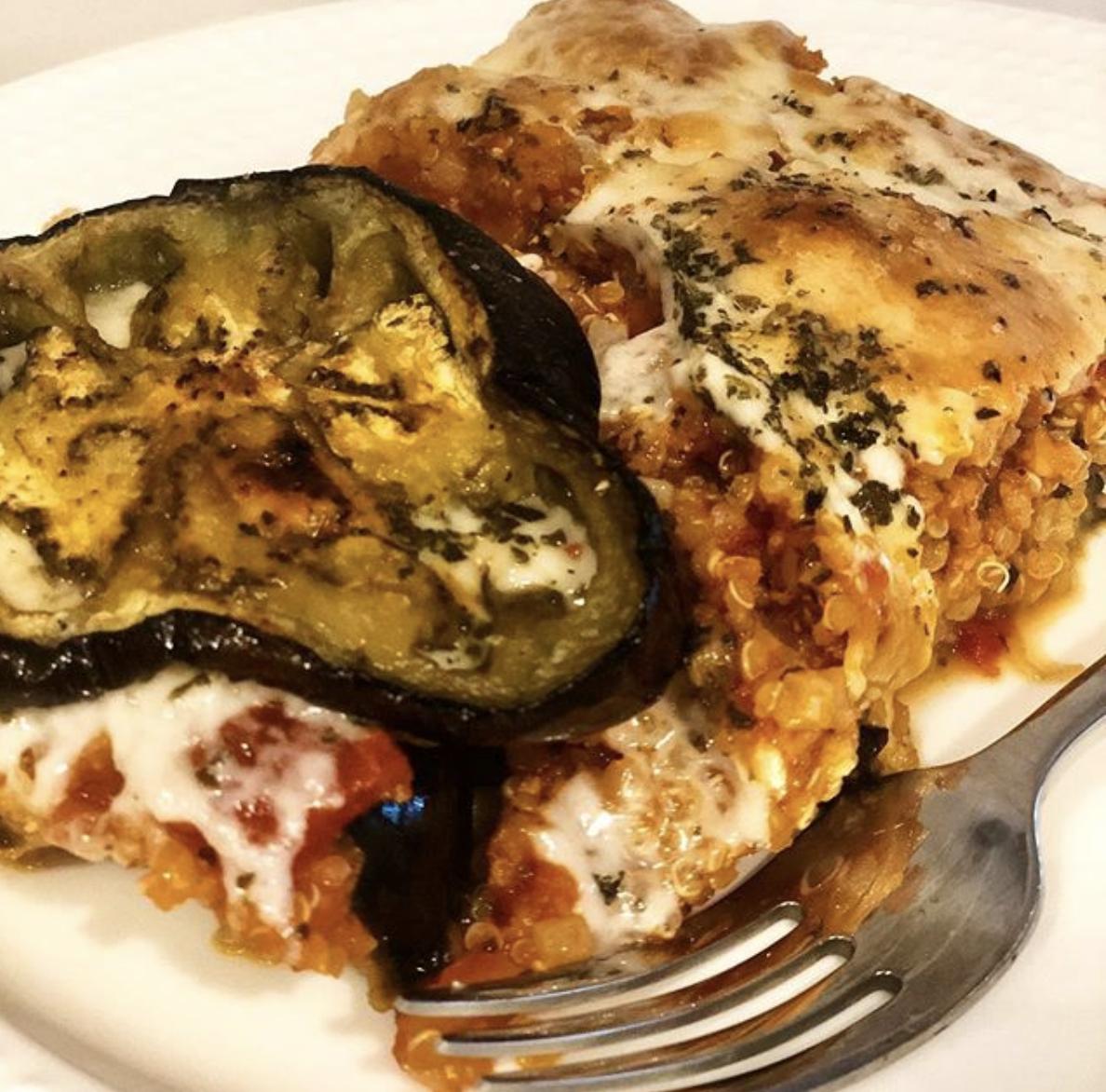 Eggplant Quinoa Bake