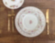 Mismatched Chhina Rental Prices packages deals sets dinner plate setting prices rental prices vintage rental prices china