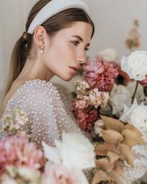 Elegant fashionable bride