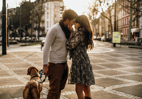 Fotoshooting mit dem Hund