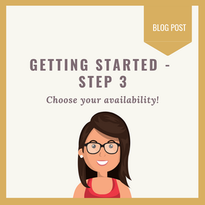 Getting started: Step 3 - Availability