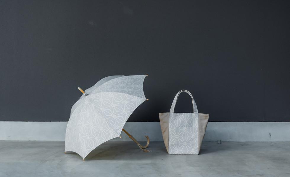 umbrella & bag ( White )