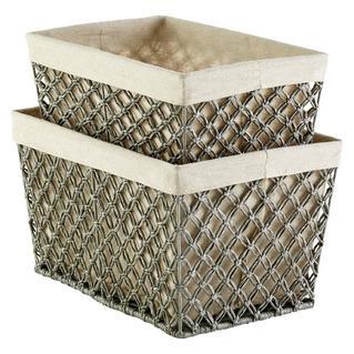 Grey Lattice Basket