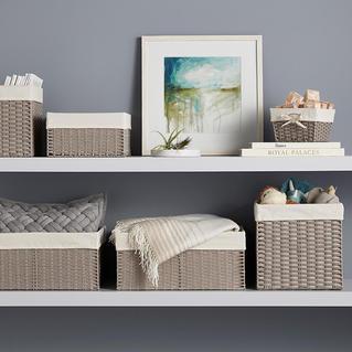 Grey Montauk Baskets