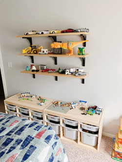 We hang pictures and shelves.