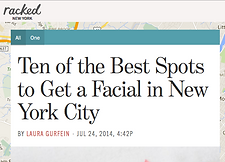 best facials nyc racked pretty please