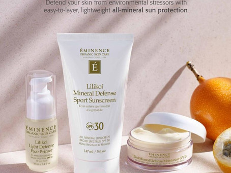 New Organic Sunscreen Line