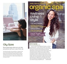 facial spa featured in organic spa magazine