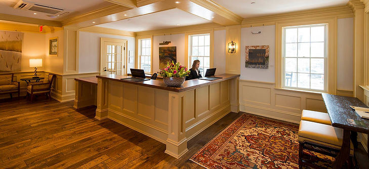 The Groton Inn reception desk