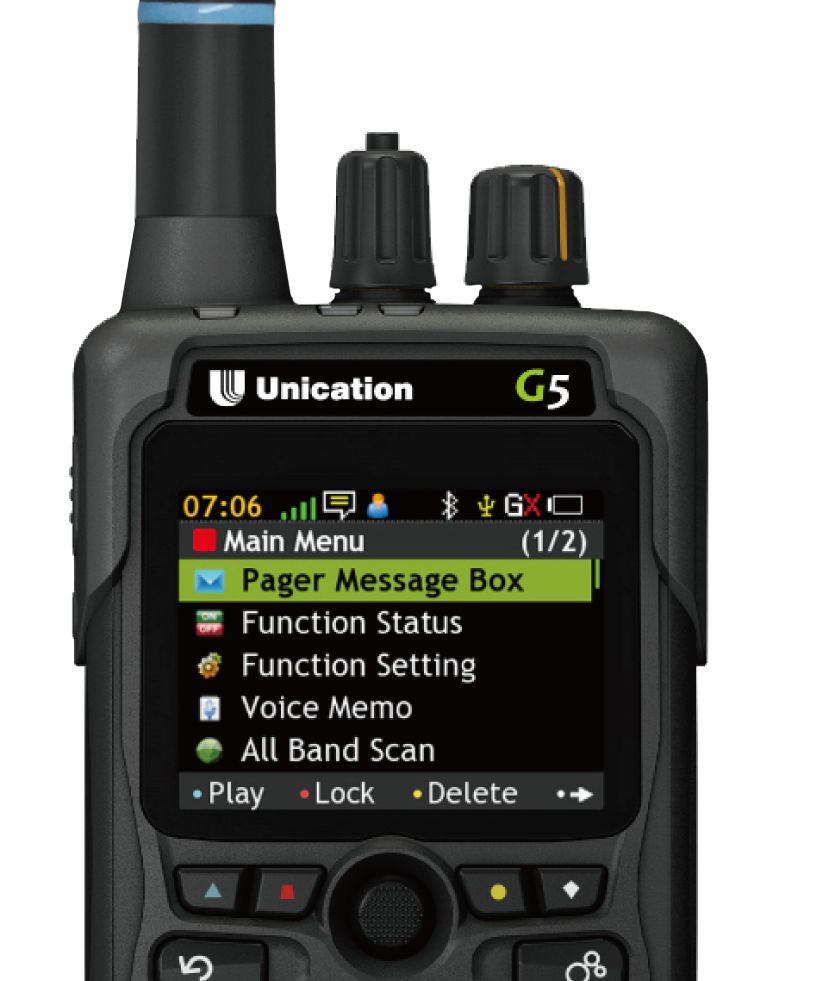 G5 P25 Dual Band Voice Pager