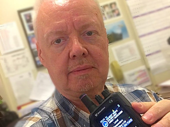 Tom Hillery with Amateur Radio Emergency Service
