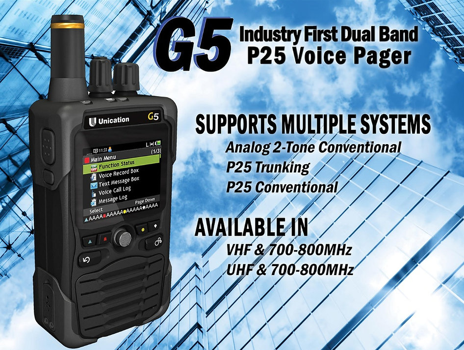 G5 P25 Voice Pager
