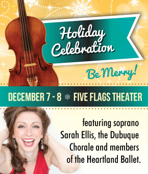 Sarah is the Featured Guest Artist with the Dubuque Symphony Orchestra