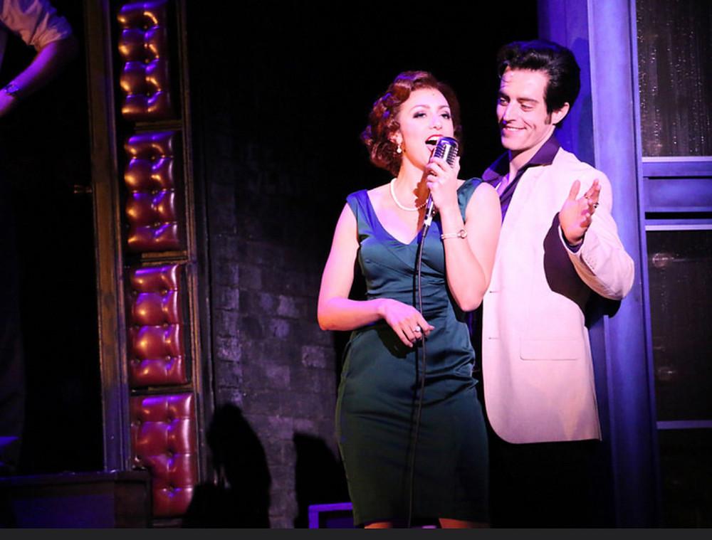 Sam Cieri as Elvis and Sarah Ellis as his girlfriend, Dyanne