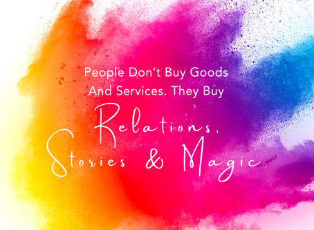 People Don't Buy Goods and Services