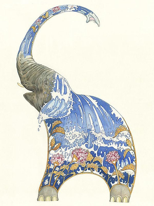"""Wenskaart """"Elephant"""""""