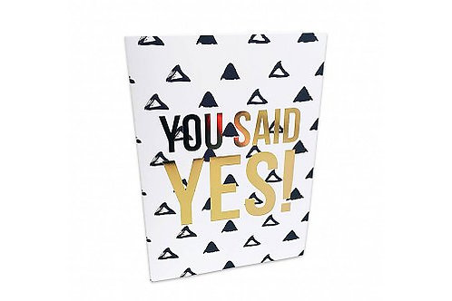 Greeting Card 'You said yes'